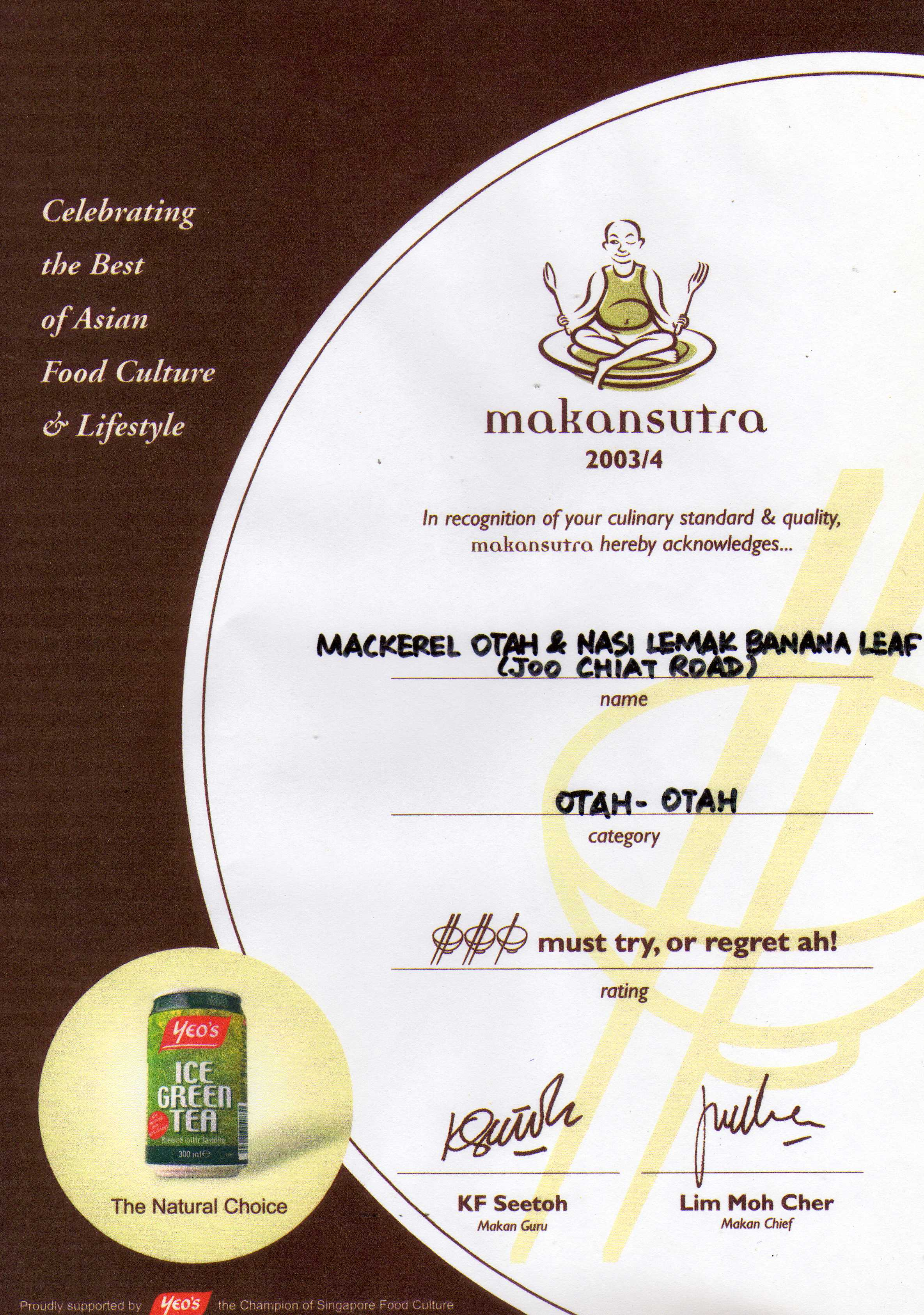 Makan Sutra - Must Try